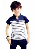 Customizes Logo Strip Fashion Cotton Kids Polo Shirt
