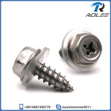 Stainless Philips Hex Washer Head Sheet Metal Screw with Washer
