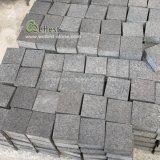 2019 Affordable Price Flamed Black Granite Cobbles/Black Granite Driveway Cobblestone Paver/Black Granite Setts