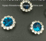 Hot Selling 14mm Crystal Rhinestone in Sewing on Strass with Claw Setting Rhinestone (TP-14mm sky blue crystal)
