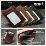 Premium Real Leather Slim Credit Card Holder Anti RFID Slim Mini Wallet