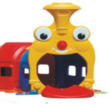 Plastic Happy Train Indoor Kids Tunnel for Fun