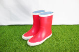 Red Kids Rubber Rain Boots, Children Rain Boots, Kid′s Footwear, China Shoes