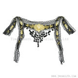 Fashion Black Embroidery Lace Collar Cotton Fabric Dress Garment Accessories