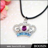 Rhinestones Crown Crystal Handmade Necklace Jewelry for Wholesale #19684
