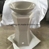 Wholesale Natural Stone Pedestal Freestanding Wash Basin for Indoor &Outdoor