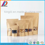 Hot Sale Stand up Kraft Paper Packaging Bag Zip Lock Self Seal Food Storage Pouch