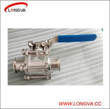 Stainless Steel Sanitary 3 Piece Full Port Tri Clover Clamp Ball Valve