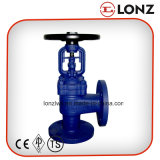 Cast Steel WCB DIN Angle Type Bellow Seal Globe Valve