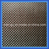 Red Silk Silver Silk Carbon Fiber Cloth