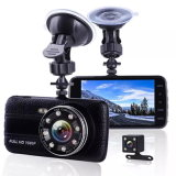 Car Camera New Full HD Dash Camera 1080 P Dual Lens 170 Degree Wide Angle with G-Sensor 4.0 Inch Car DVR Front and Rear A504