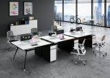 Modern Elegant Office Partition Furniture Wooden Cubicle 6 Person Workstation