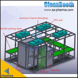 Customize Different Modes of Cleanbooth Glass/Soft PVC Wall