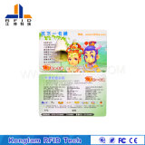Customized Smart Coated Paper RFID Card for Canteen Ticket