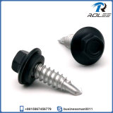 Stainless Painted Hex Head Self Drilling Screw with Neoprene Washer