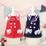 Quality Sailor Style College Cute Pet Dress Dog Summer Suit