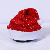 Factory Wholesale Gold Velvet Christmas Hat