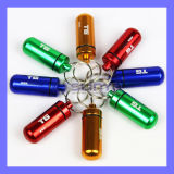 Mini Keychain Aluminum Pill Box Bottle (SL-381)