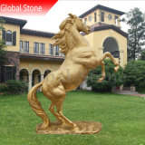 Customized Outdoor Bronze Animal Sculpture Life Size Jumping Bronze Horse Statue (GSBR-224)