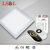 IP33 IP40 White CCT LED Squre Round Flat Square Panel Light for Commercial Lighting