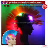 Wholesale Novelty Craft LED Party Supply Crazy Funny Wig Fans Wig Party Wig (C3057)