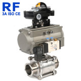 RF Dn15-100 Three Piece Pneumatic Full Package Ball Valve