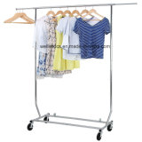 Supreme Rolling Garment Rack Collapsible Heavy Duty Adjustable Clothing Hanging Rack on Lockable Wheels