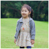100% Wool Grey Clothes for Kids Girls