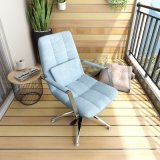 Metal Base Height Fabric Recliner Relax Lounge Chair