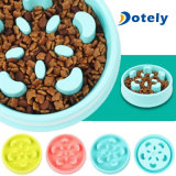Pet Dog Cat Puppy Slow Down Eating Bowl Cute Food Water Feeder Dish