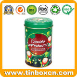 3D Embossed Round Chocolate Tin Box for Gifts Packing