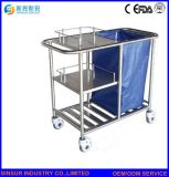 Hospital Furniture Medical Use Multi-Purpose Stainless-Steel Nursing Cart/Trolley