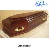 European Chinese Manufacturer Solid Wood Ash Coffin