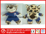 Cute Football Club Mascot Plush Leopard Toy
