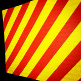 Red Yellow Prismatic Slanting Reflective Sheeting for Traffic Sign