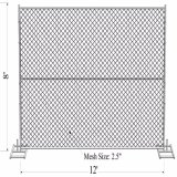 8'x10' Smart Heavy Duty Chain Link Infilled Mesh Aperture 57mmx57mm X 3.00mm Construction Fence Panels