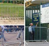 Construction Barrier / PVC Steel Road Barrier Fence / PVC Coated Public Works Panels