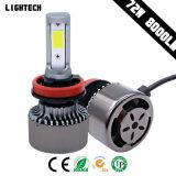 Factory Wholesale New Powerful Bridgelux COB Chip (USA) Car LED Headlight H4 Hi/Lo Beam 72W 8000lm Auto LED Light