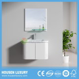 2018 Hot PVC High-Gloss Paint Arc PVC Bathroom Cabinet (HS-P1101-600)