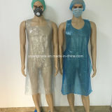 Medical Colored Disposable Plastic Polyester PE Disposable Aprons