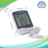 Household Digital Indoor Max Min Temperature and Humidity Thermometer Hygro Sensor with Clock Showing