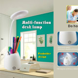 Home Decor Rechargeable USB Port Reading Light Stepless Dimmable Touch Sensor Desk Light LED Table Lamp