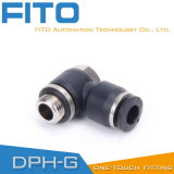 pH Pneumatic G-Thread Fittings with Nickel Plated and O-Ring