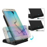 Wireless Fast Charger with Qi Charging Stand for Samsung Galaxy-Edge