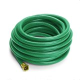 PVC Fiber Braided Reinforced Flexible Garden Water Pipe Hose with Brass Connector