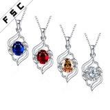 Wholesale Fashion Jewelry Cubic Zirconia Diamond Pendant Necklace for Woman