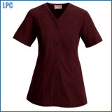 Cotton Absorbent Kitchen Work Uniform with Short Sleeves