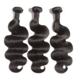 """14"""" Human Hair Weaving Good Quality 100% Authentic Human Hair Black Color Body Wave Factory Wholesale Price Thick Hair End Single Drawn Virgin Hair No Shedding"""