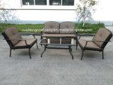 Outdoor Garden Patio Aluminum+ Steel 4PCS Furniture Sofa Set