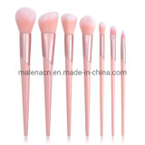 Hot Sale Slanted Ferrule 7PCS Cosmetic Makeup Brush Set with Synthetic Hair